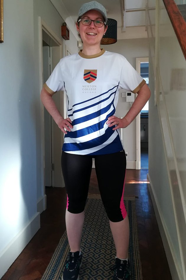 Alice Brooke in her running kit