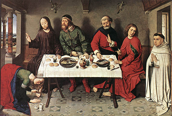 'Christ in the House of Simon' by Dieric Bouts (c.1420 –1475)