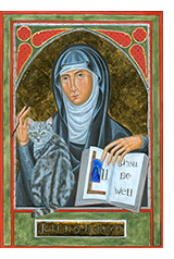 'Icon Of Julian Of Norwich', a painting by Juliet Venter - https://fineartamerica.com/featured/icon-of-julian-of-norwich-juliet-venter.html