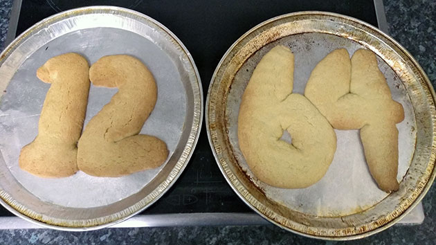 Jessica Phillips' 1264-themed shortbread cookies