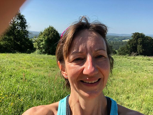 Jo Woods at the end of her 1264 challenge