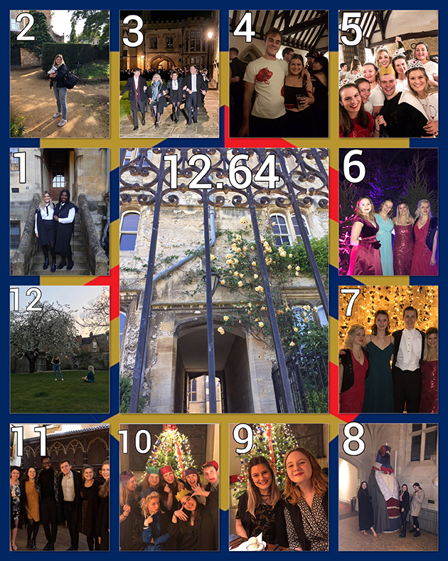 A montage of photos showing a year at Merton College