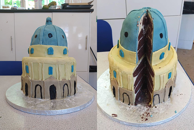 The Radcliffe Camera in cake form