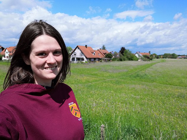 Silvia in a meadow in Kaufering