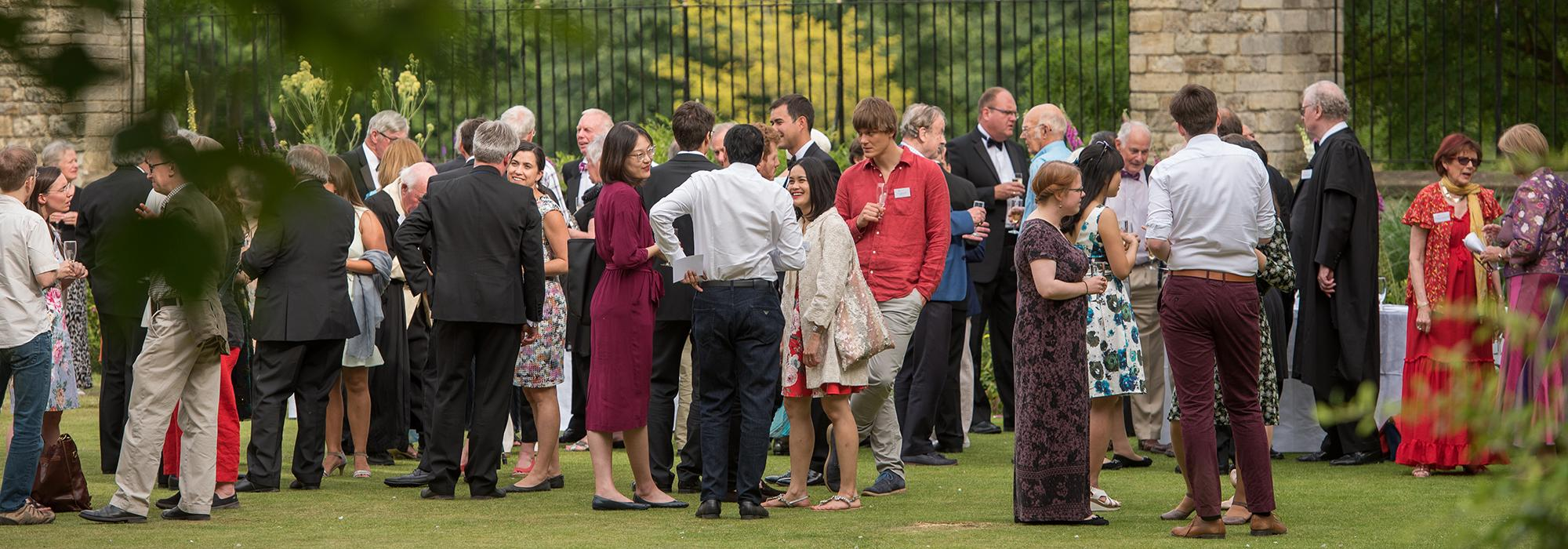 Alumni at a reception for members of the 1264 Society, part of the Merton Weekend 2018 - Photo: © John Cairns - www.johncairns.co.uk