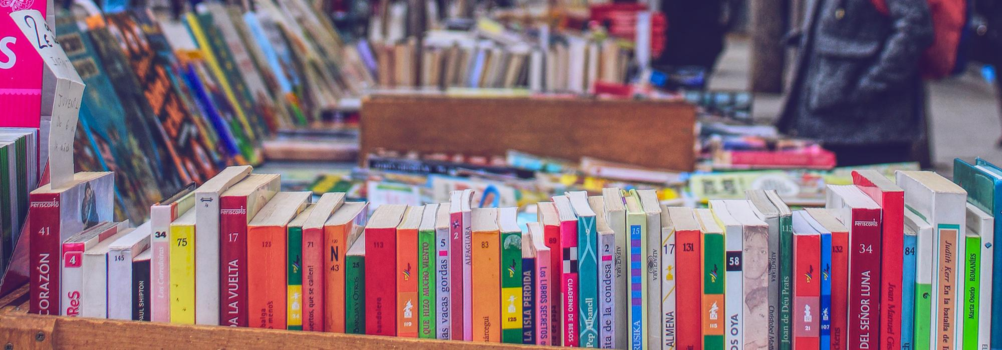 Second-hand bookstall in Madrid - Photo: Leigh Cooper on Unsplash - https://unsplash.com/@leigh_cooper