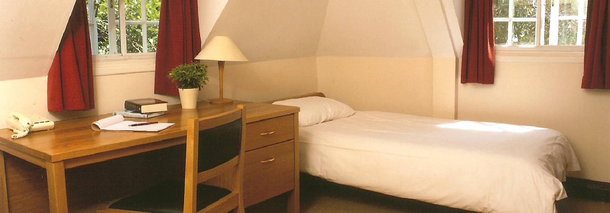 A typical bedroom at Merton College