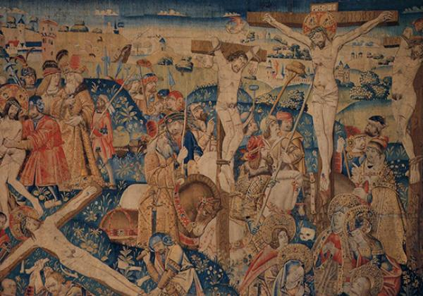 Tapestry with scenes from the Passion of Christ, by an unknown weaver, Flemish (active 1470-1490 in Tournai), via Wikimedia Commons
