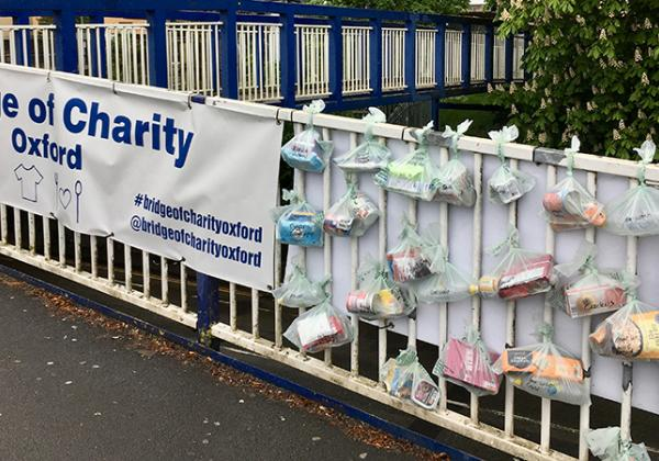 The 'Bridge of Charity' outside Oxford Train Station