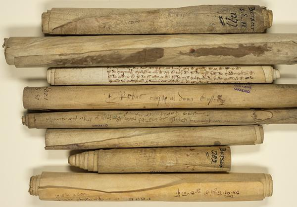 A selection of the College's medieval bursars' rolls