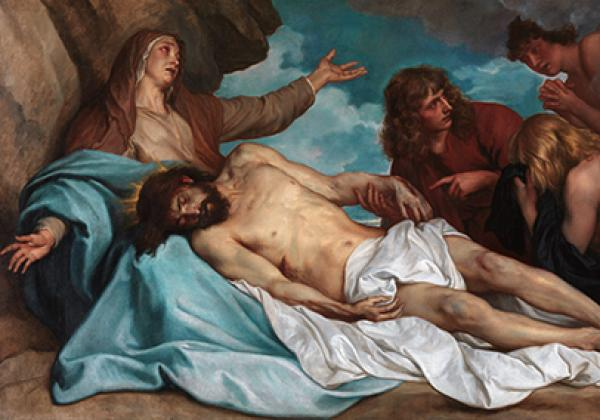detail from Anthony van Dyck's 'The lamentation over the dead Christ' - image: Royal Museum of Fine Arts, Antwerp
