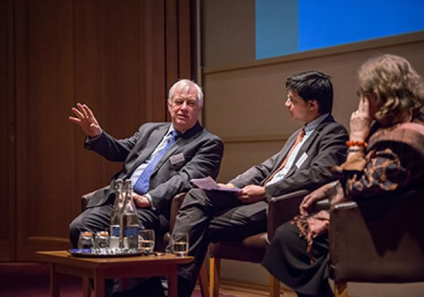 Lord Patten, Professor Rana Mitter and Professor Dame Jessica Rawson - © John Cairns - www.johncairns.co.uk