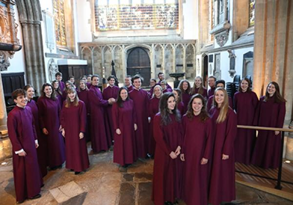 The Choir of Merton College, Oxford, in February 2018 - Photo: © KT Bruce www.ktbrucephotography.com
