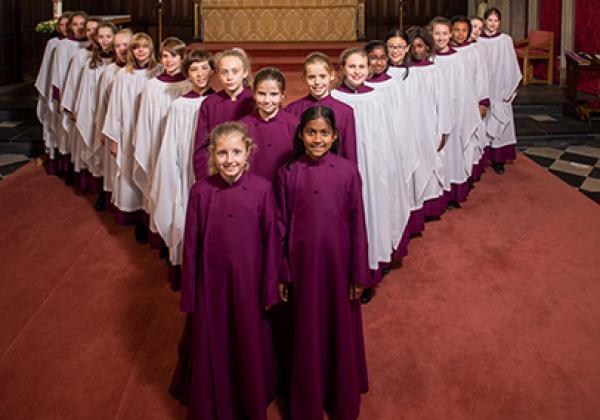 Merton College Girl Choristers in 2019 - Photo: © John Cairns - www.johncairns.co.uk