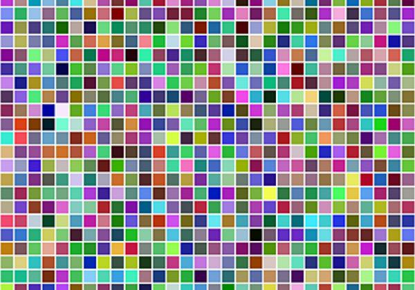 Abstract colourful mosaic