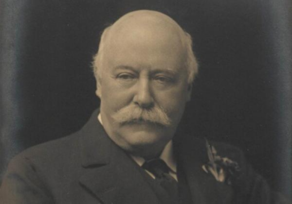 Sir (Charles) Hubert Hastings Parry, 1st Bt  by Walter Stoneman, for James Russell & Sons bromide print, circa 1916 - © National Portrait Gallery, London (CC BY-NC-ND 3.0)
