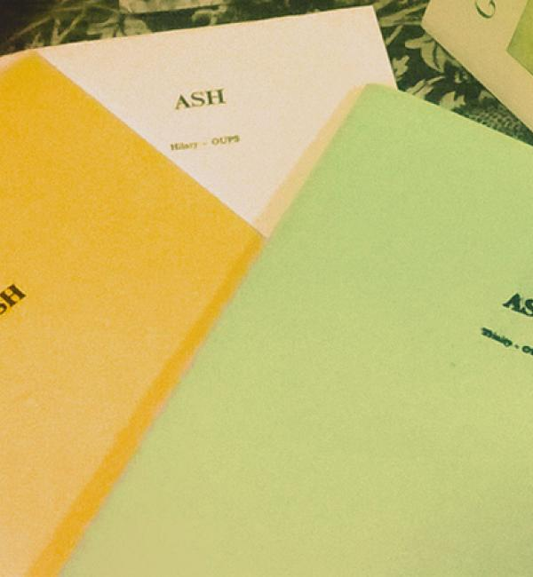 Copies of 'Ash', the Oxford University Poetry Society's termly publication - Photo: © Molly Clark (2014)