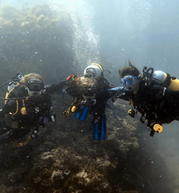 Paris Jaggers on a reef survey off the southwest coast of Madagascar - © Paris Jaggers