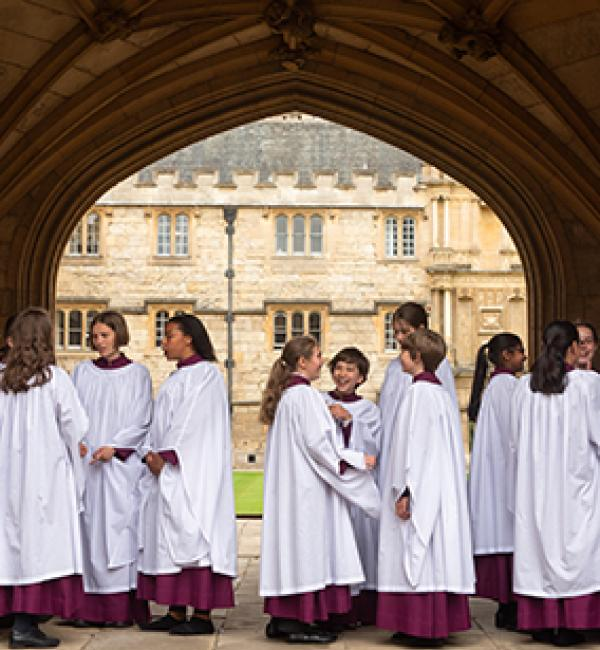 Members of the Merton College Girls' Choir in 2019 - Photo: © John Cairns