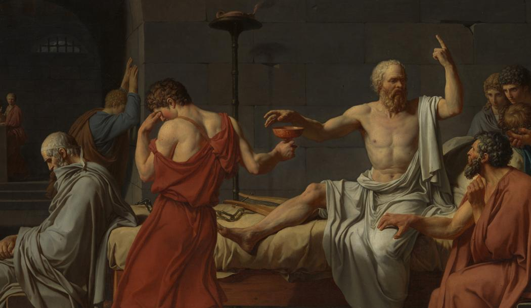 "Detail from ""The Death of Socrates"" by Jacques-Louis David, from the collection of the Metropolitan Museum of Art, New York"