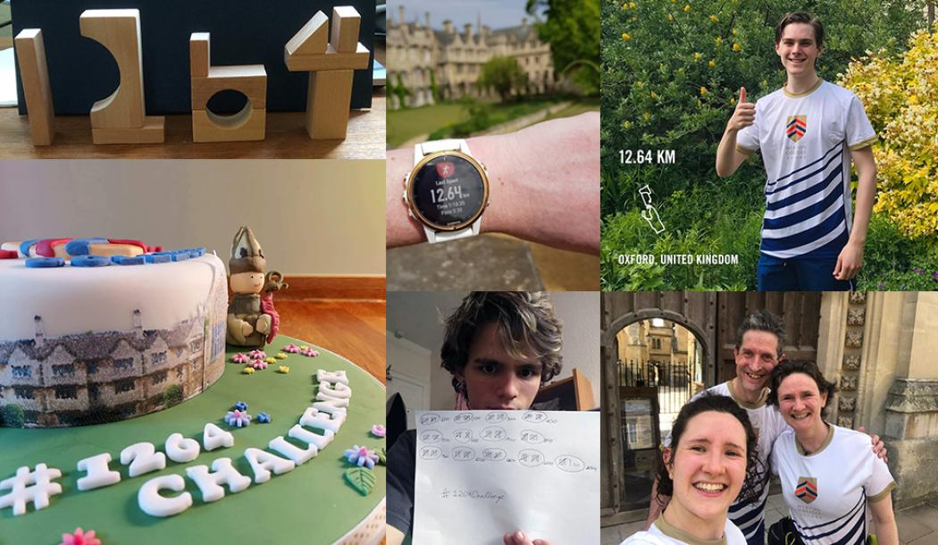A montage of photographs showing participants in The Big Merton 1264 Challenge