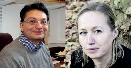 Professors Anant Parekh and Véronique Gouverneur (Photo of Professor Parekh © Colin Beesley, Department of Physiology, Anatomy and Genetics, University of Oxford)