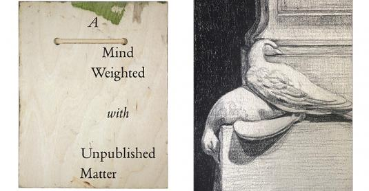 'A Mind Weighted with Unpublished Matter' - (L-R) front cover; frontispiece