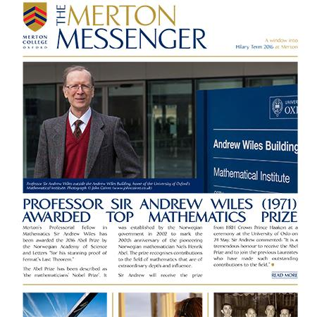 Merton Messenger, Hilary Term 2016